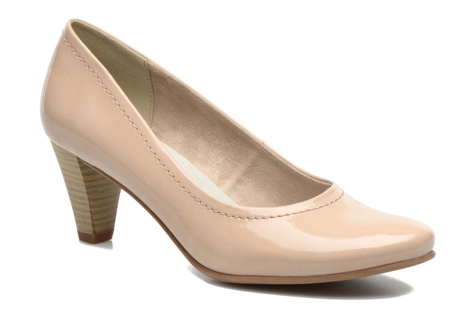 High heels Jana shoes Bossy Beige detailed view/ Pair view