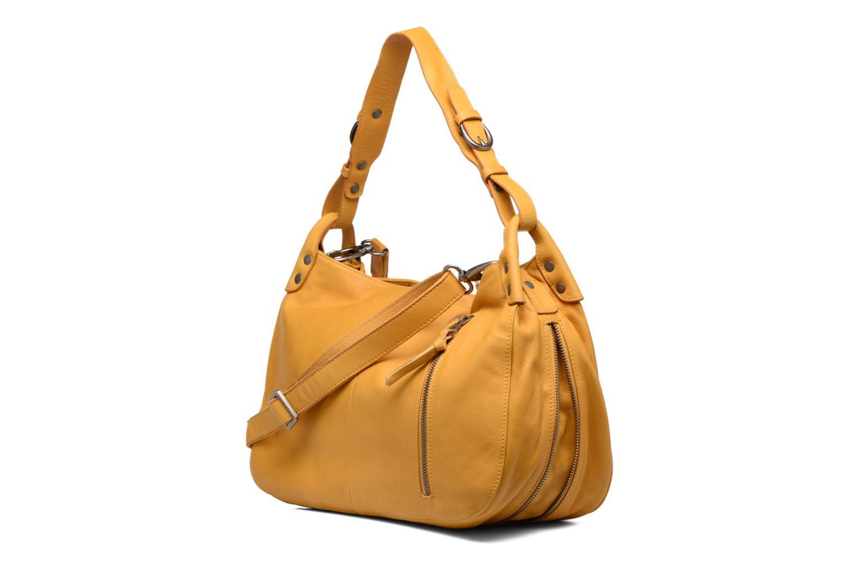 Handtaschen Sabrina Candice gelb ansicht von rechts