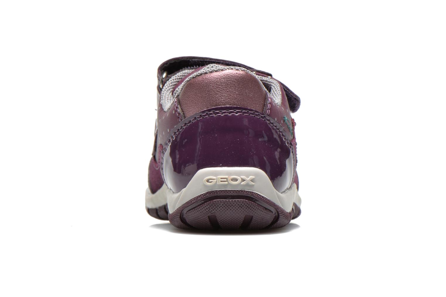 Trainers Geox B SHAAX A - 2 Purple view from the right