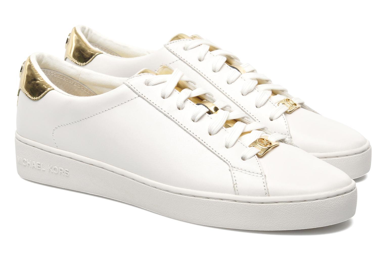 Sneakers Michael Michael Kors Irving Lace Up Vit 3/4 bild