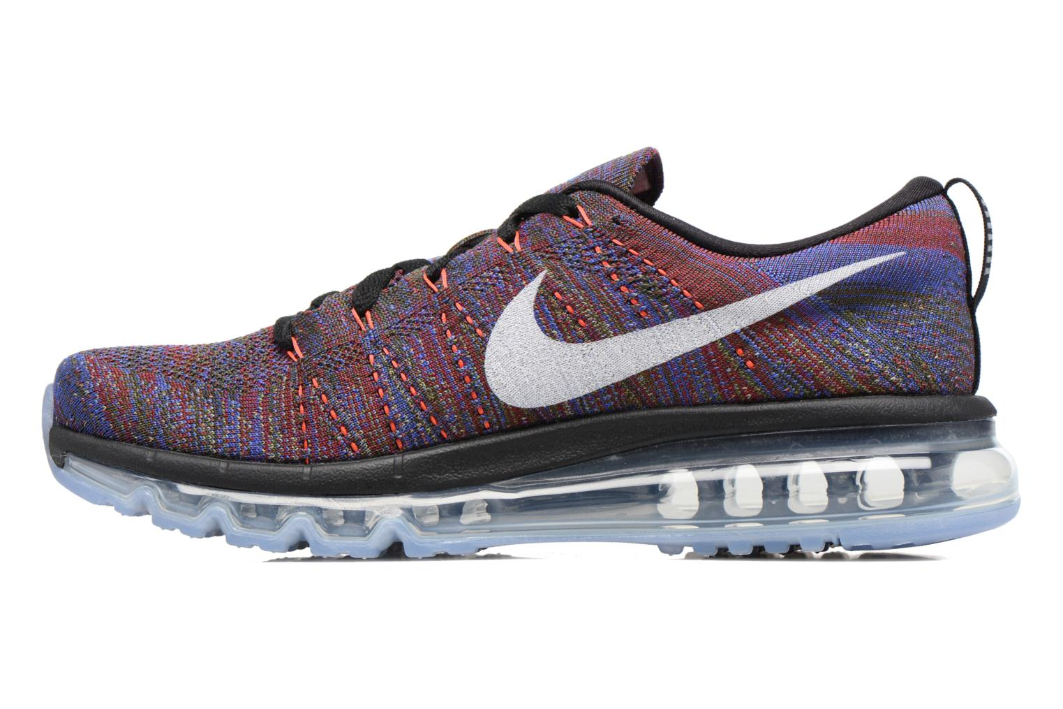 Nike Flyknit Max Black/White-Medium Blue-Team Red
