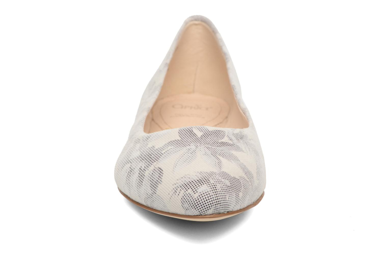 Ballerinas Caprice Vinyle grau schuhe getragen