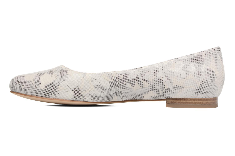 Ballerinas Caprice Vinyle grau ansicht von vorne
