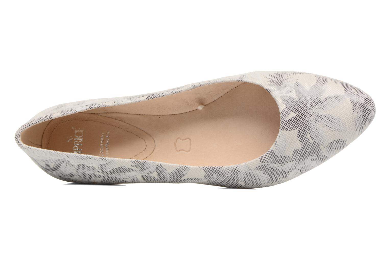 Ballerinas Caprice Vinyle grau ansicht von links