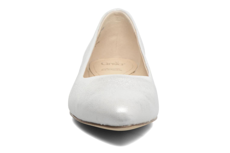 Ballerinas Caprice Vinyle silber schuhe getragen