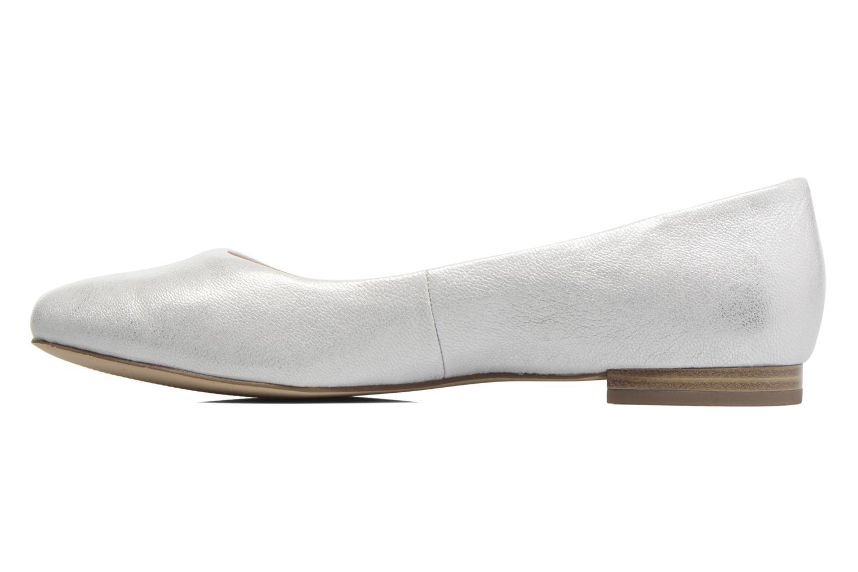 Ballerinas Caprice Vinyle silber ansicht von vorne