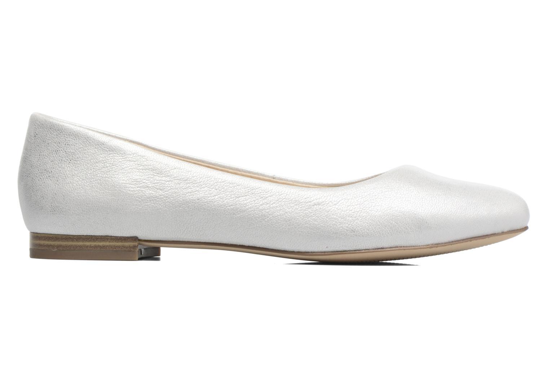 Ballerinas Caprice Vinyle silber ansicht von hinten
