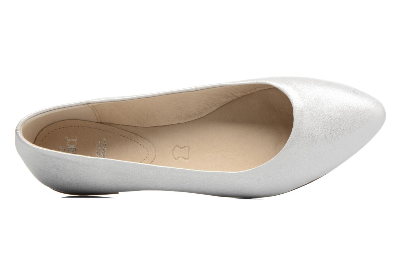 Ballerinas Caprice Vinyle silber ansicht von links