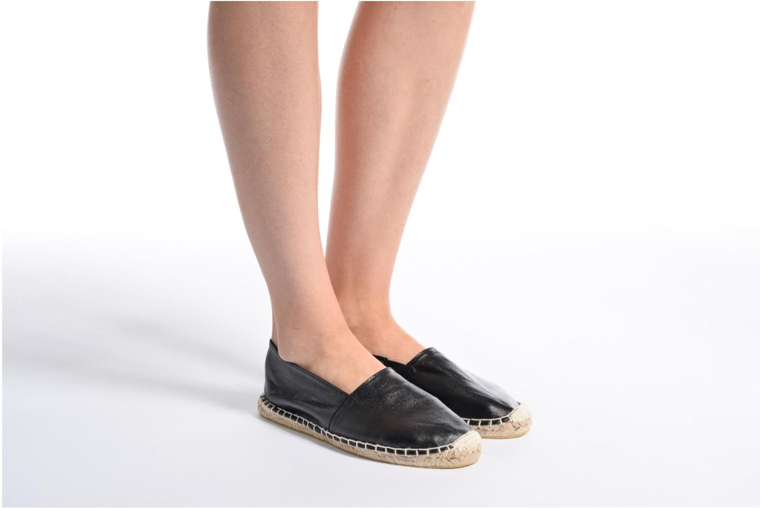 Espadrilles Pieces Haisha espadrillos Black view from underneath / model view
