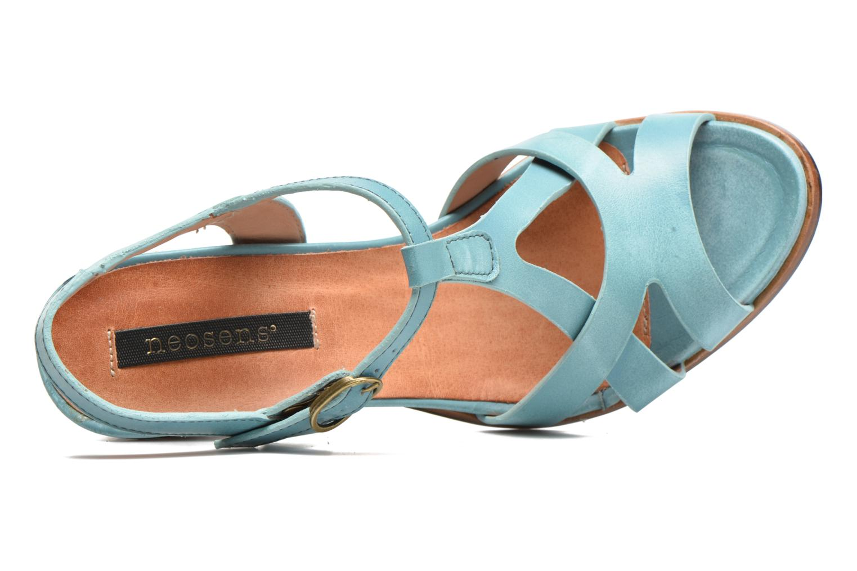 Sandalias Neosens Gloria 193 Azul vista lateral izquierda