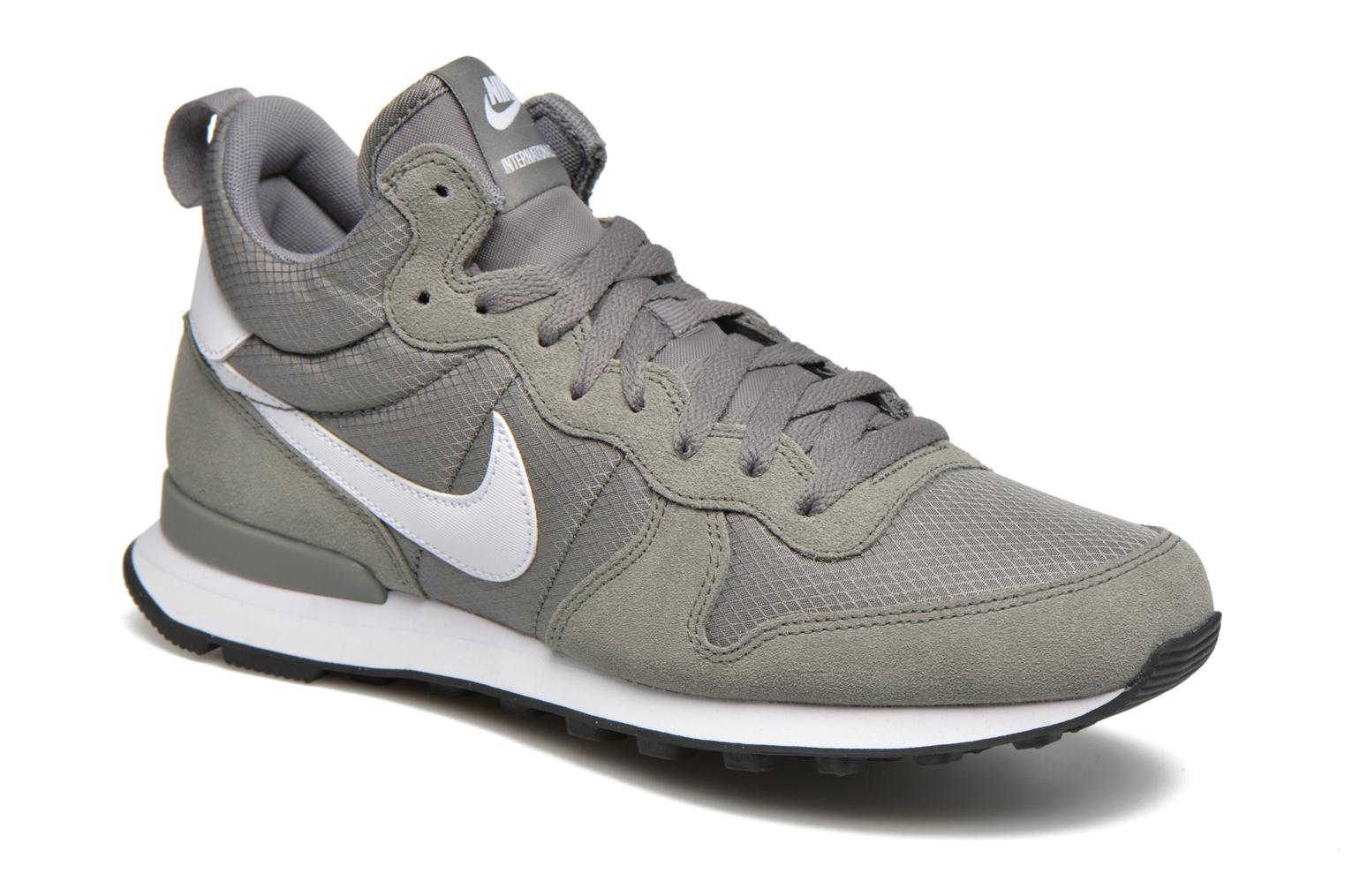 Nike Internationalist Mid Tumbled Grey/White-White-Total Orange