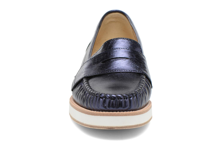 Mocassins MAURICE manufacture Basso Bleu vue portées chaussures