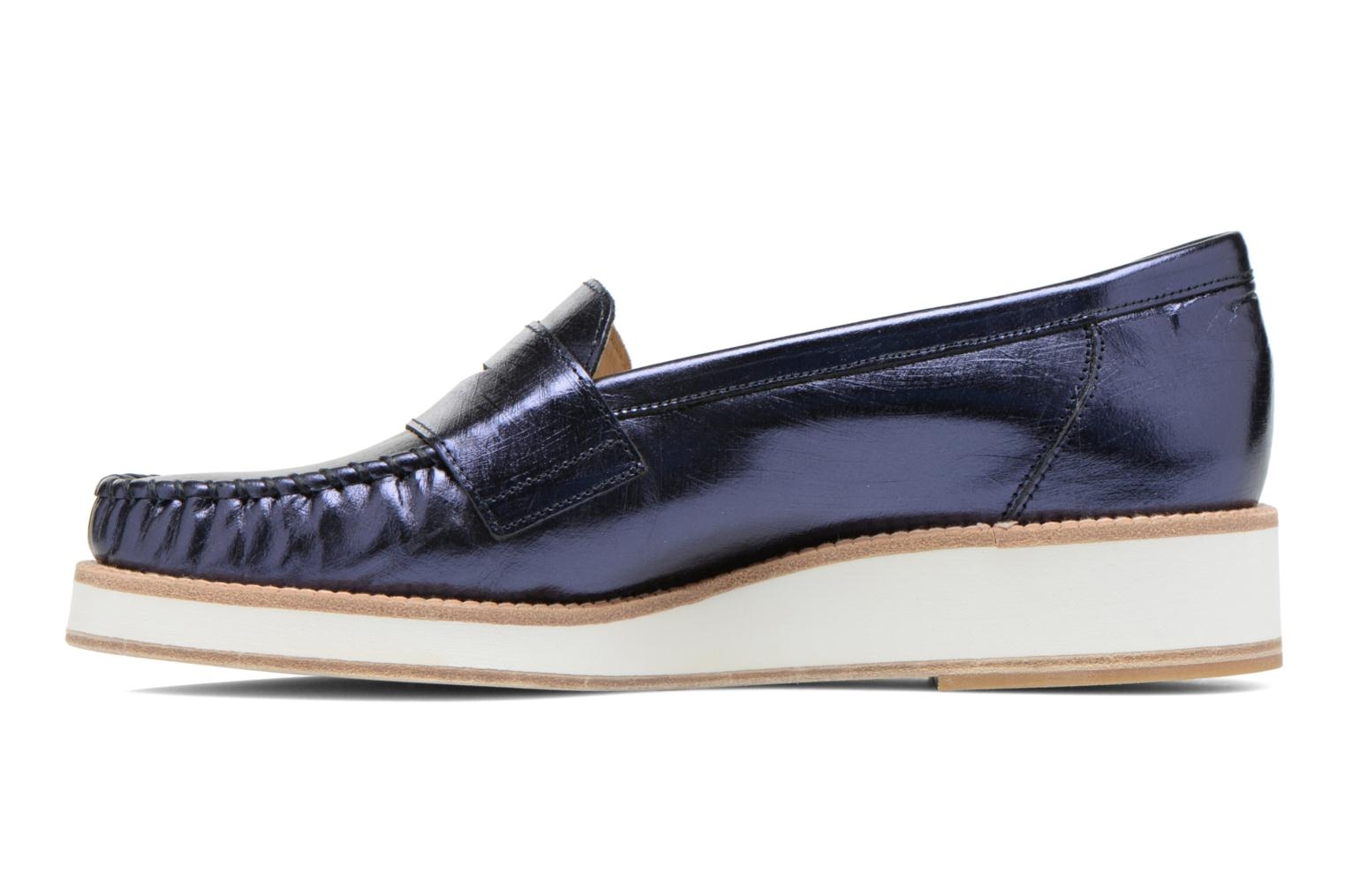 Mocassins MAURICE manufacture Basso Blauw voorkant