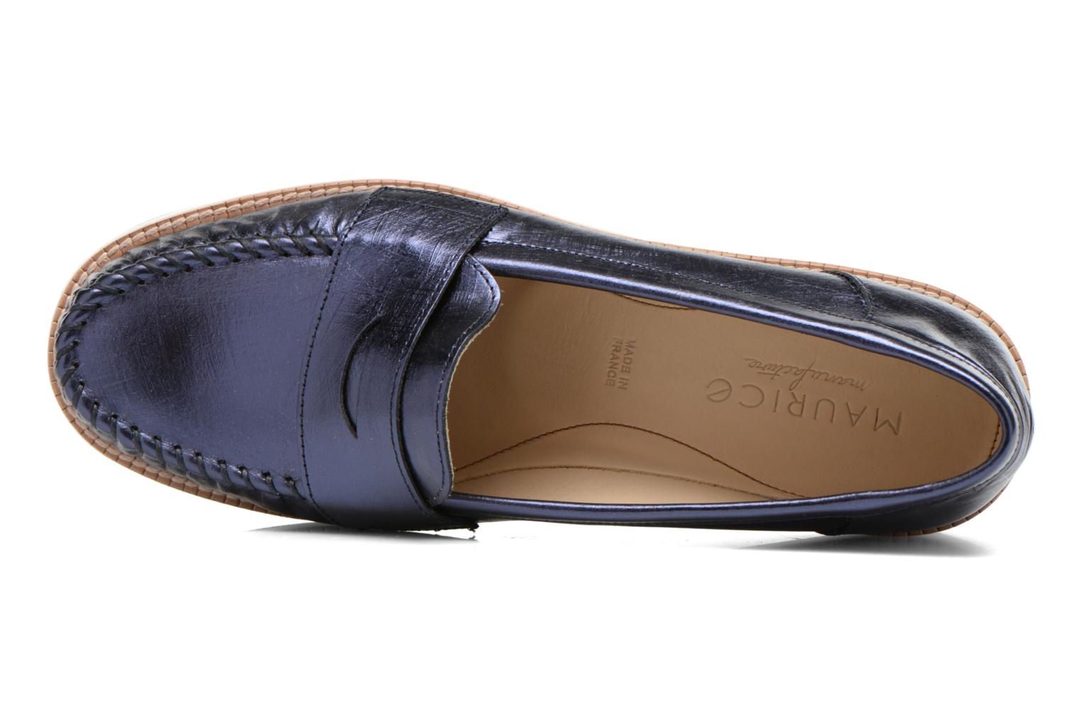 Slipper MAURICE manufacture Basso blau ansicht von links