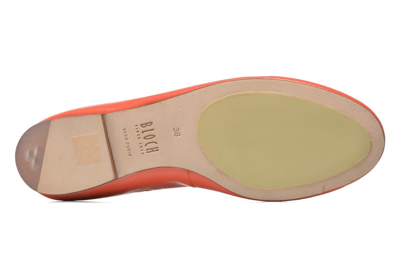 Ballerines Bloch Soft Patent ballerina Orange vue haut
