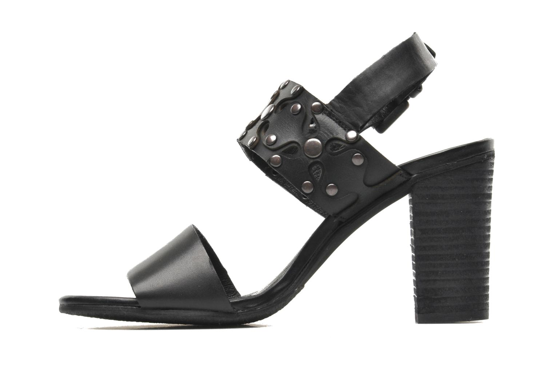Sandales et nu-pieds SPM Gerbil Noir vue face