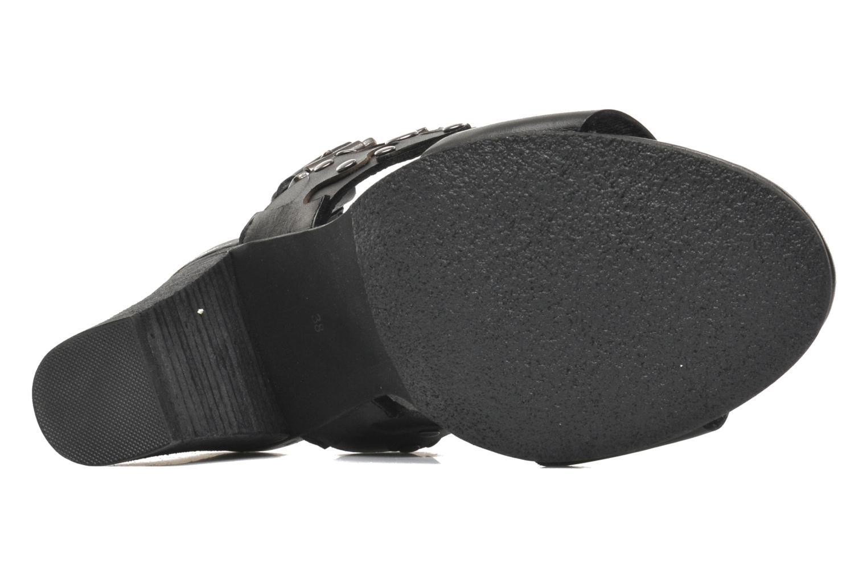 Sandales et nu-pieds SPM Gerbil Noir vue haut