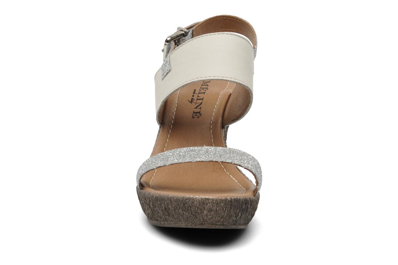 Sandales et nu-pieds Méliné Miler Beige vue portées chaussures