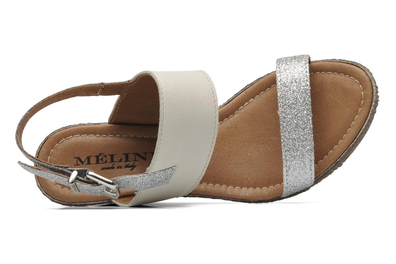 Sandales et nu-pieds Méliné Miler Beige vue gauche