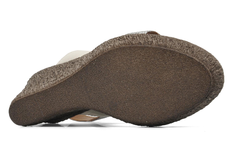 Sandales et nu-pieds Méliné Miler Beige vue haut