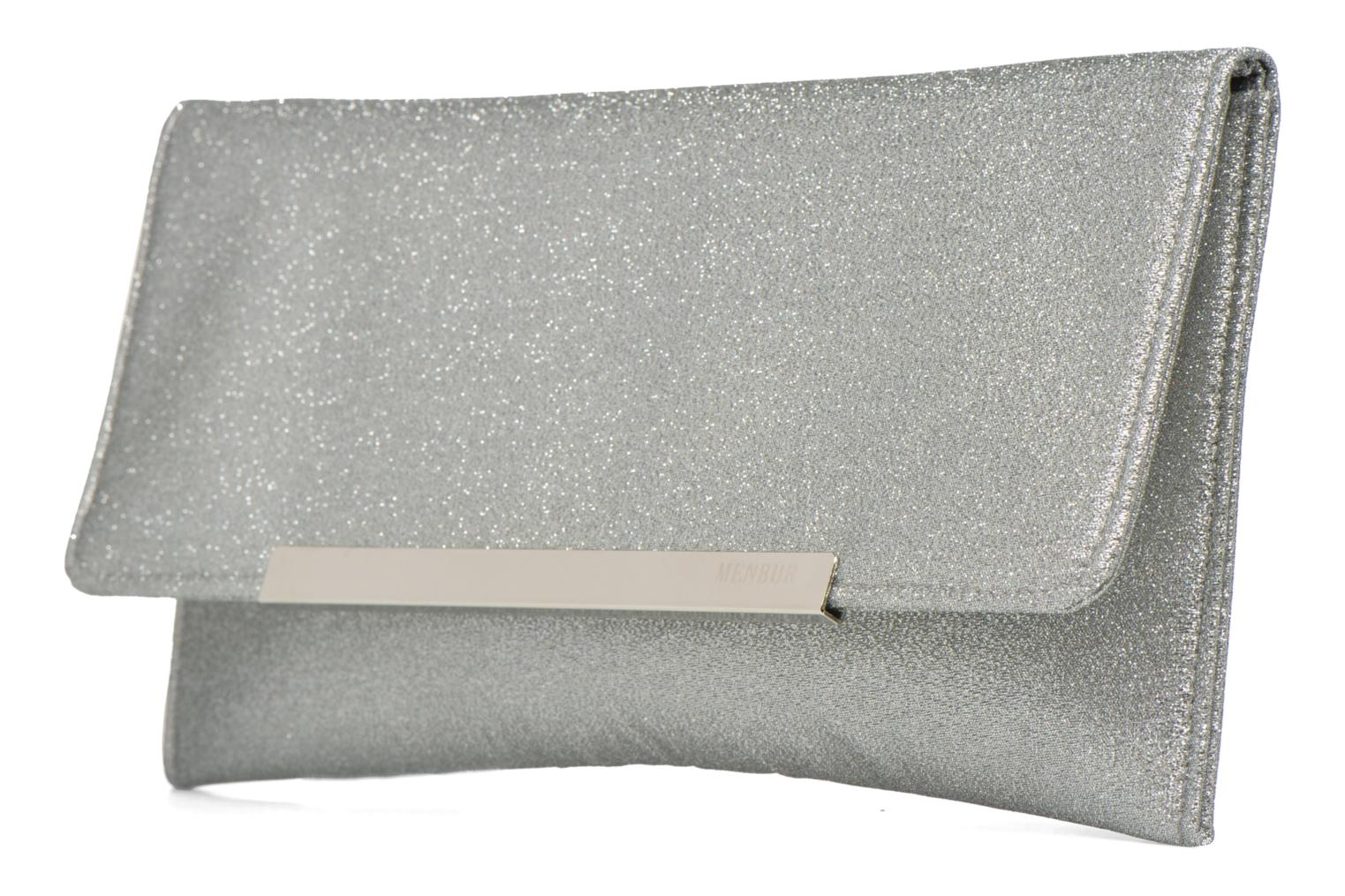Clutch bags Menbur Gove Silver model view