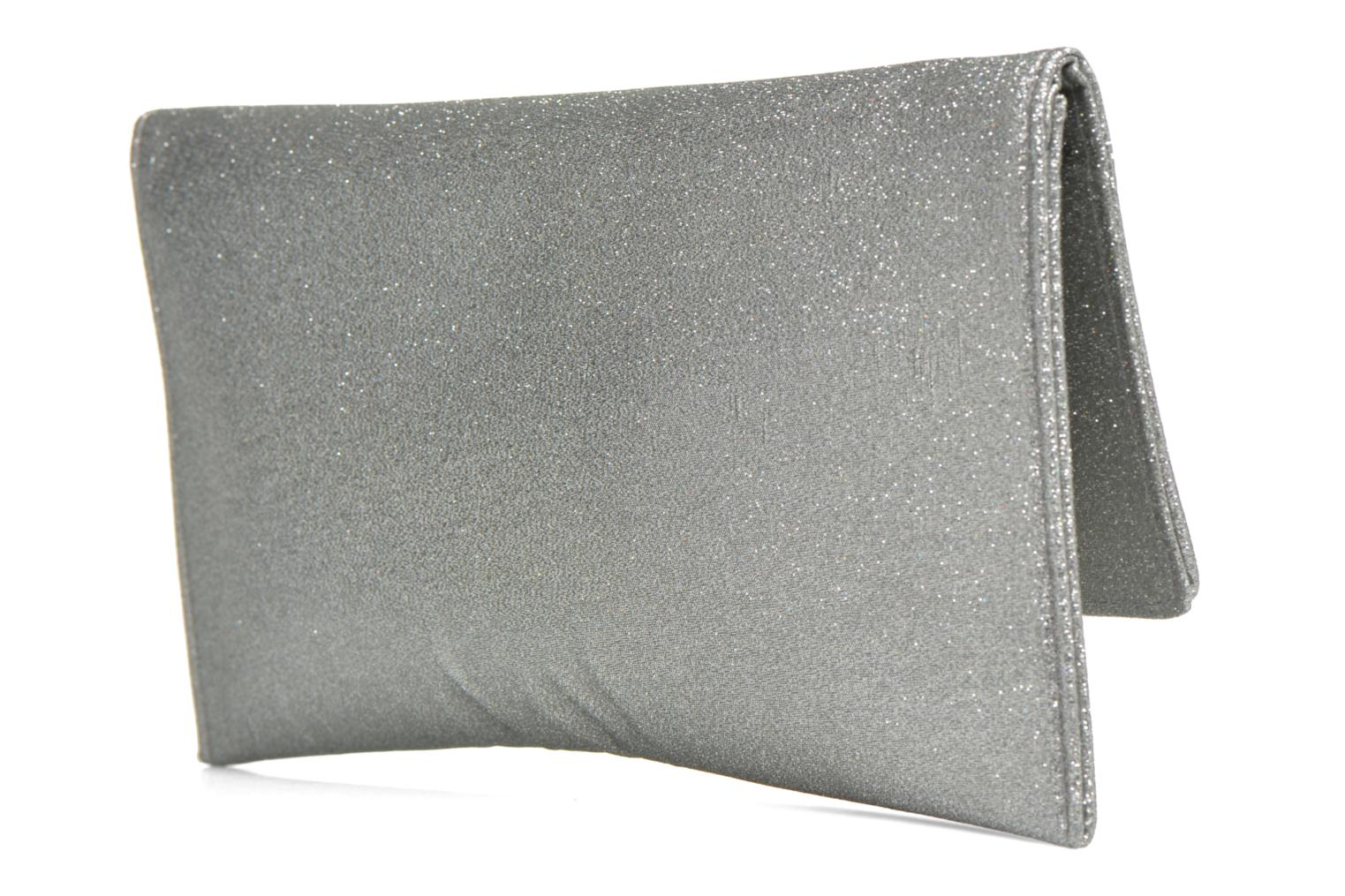 Clutch bags Menbur Gove Silver view from the right