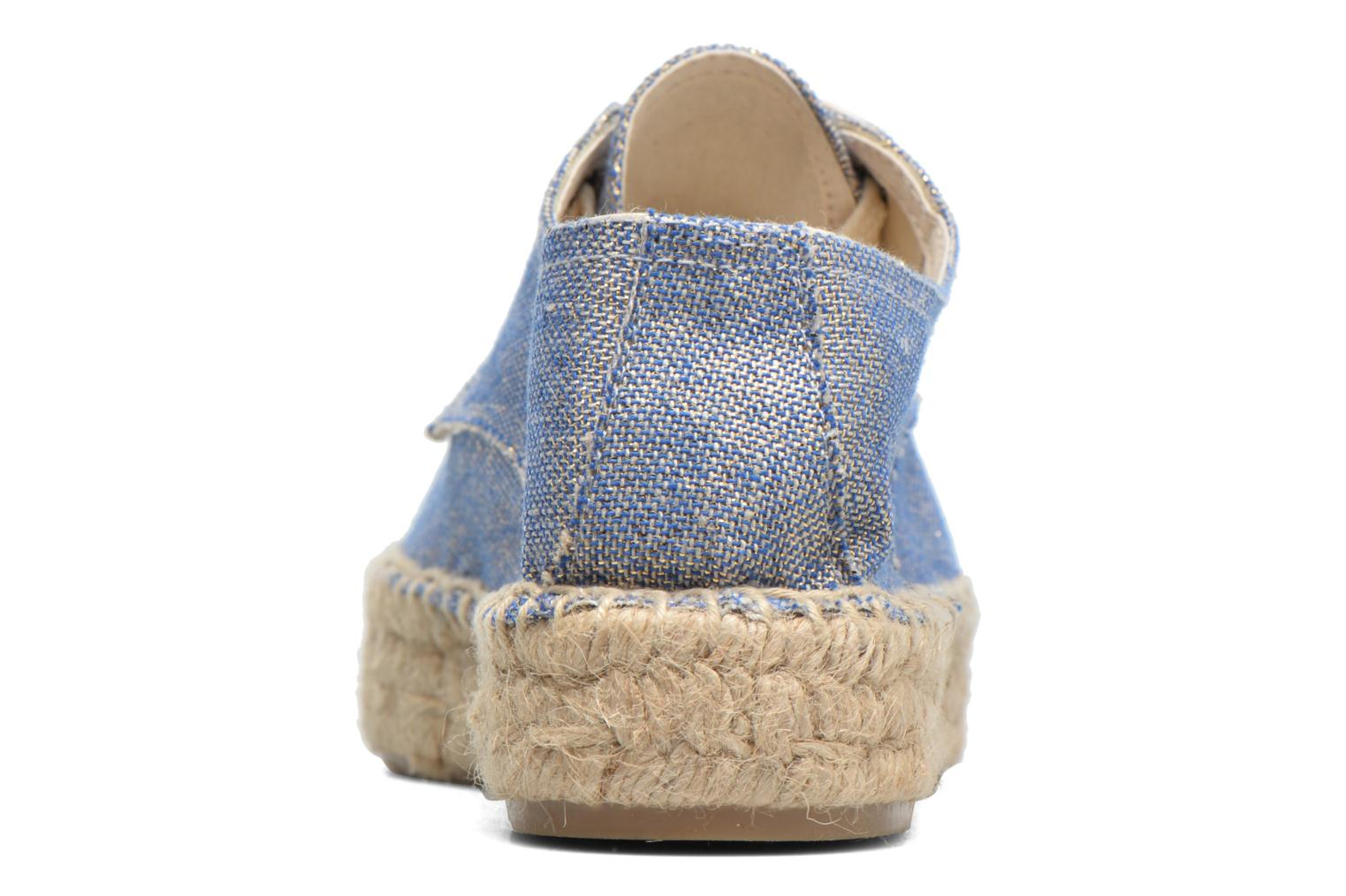 Lace-up shoes Anaki Sable Blue view from the right