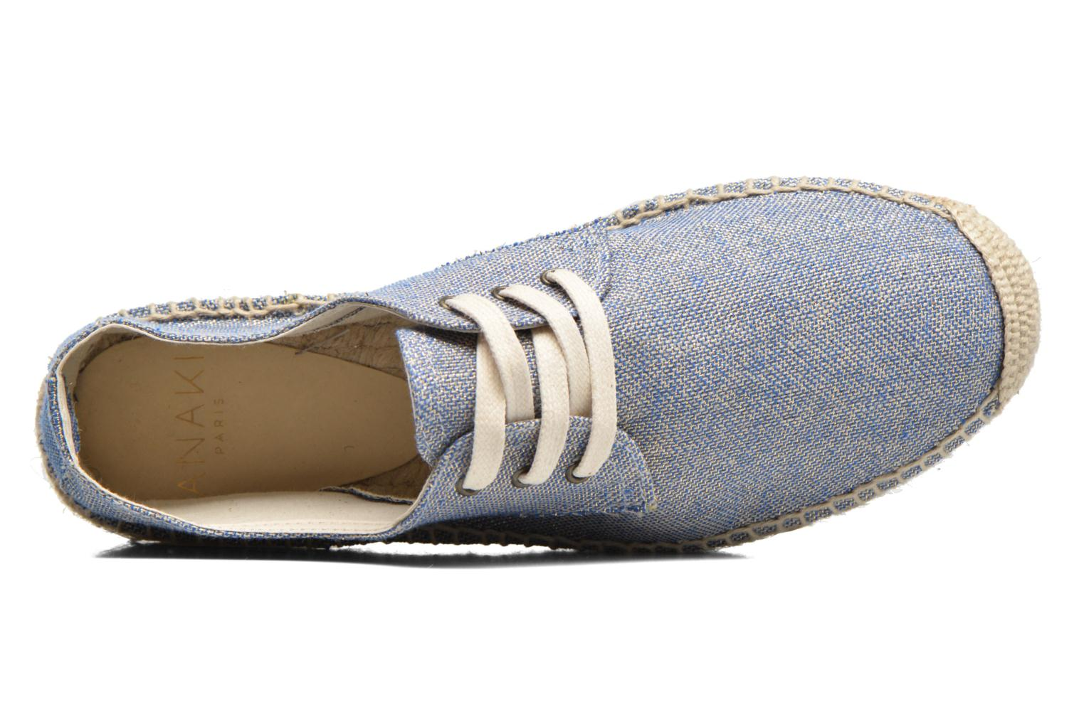 Lace-up shoes Anaki Sable Blue view from the left