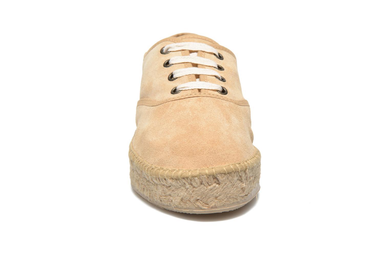 Lace-up shoes Pare Gabia Ictum croûte Beige model view