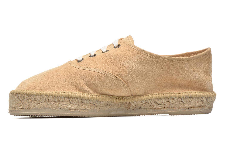 Lace-up shoes Pare Gabia Ictum croûte Beige front view
