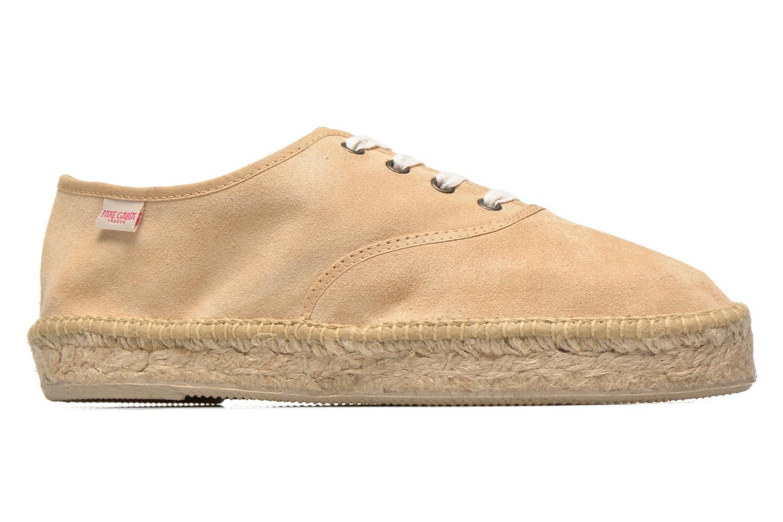 Lace-up shoes Pare Gabia Ictum croûte Beige back view