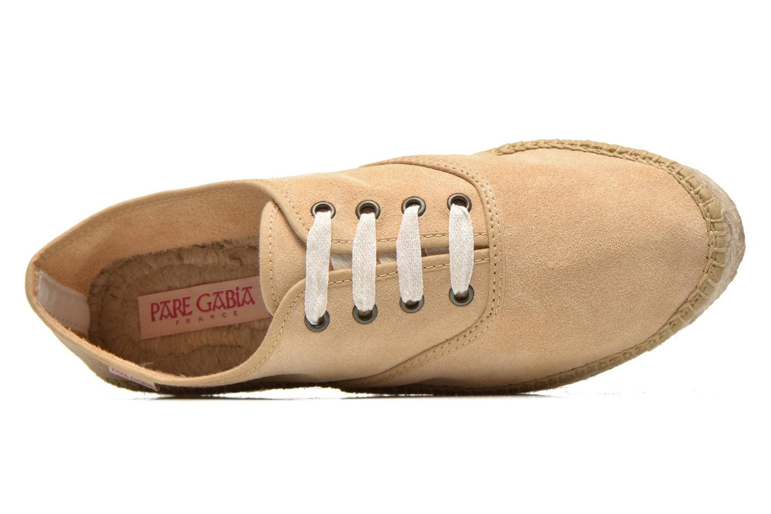 Lace-up shoes Pare Gabia Ictum croûte Beige view from the left