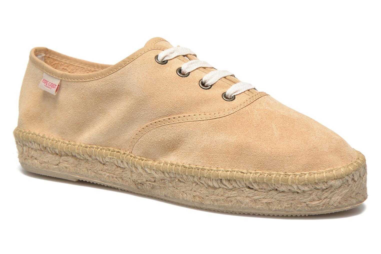 Lace-up shoes Pare Gabia Ictum croûte Beige detailed view/ Pair view