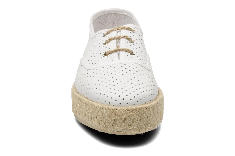 Chaussures à lacets Pare Gabia Lotus cuir Blanc vue portées chaussures