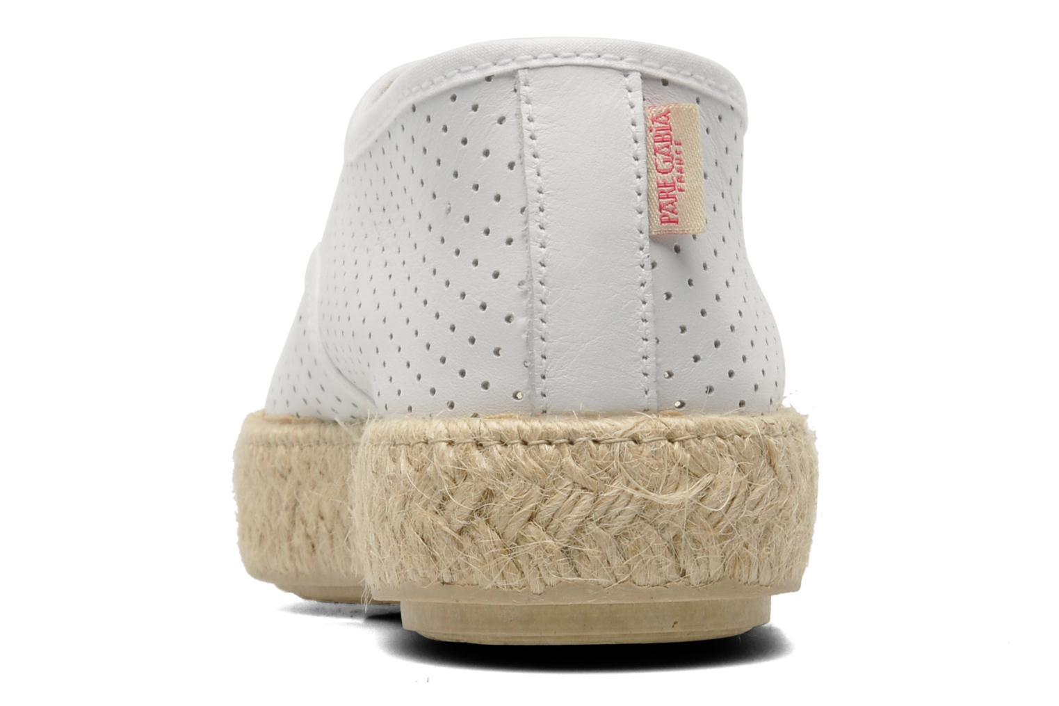 Lace-up shoes Pare Gabia Lotus cuir White view from the right