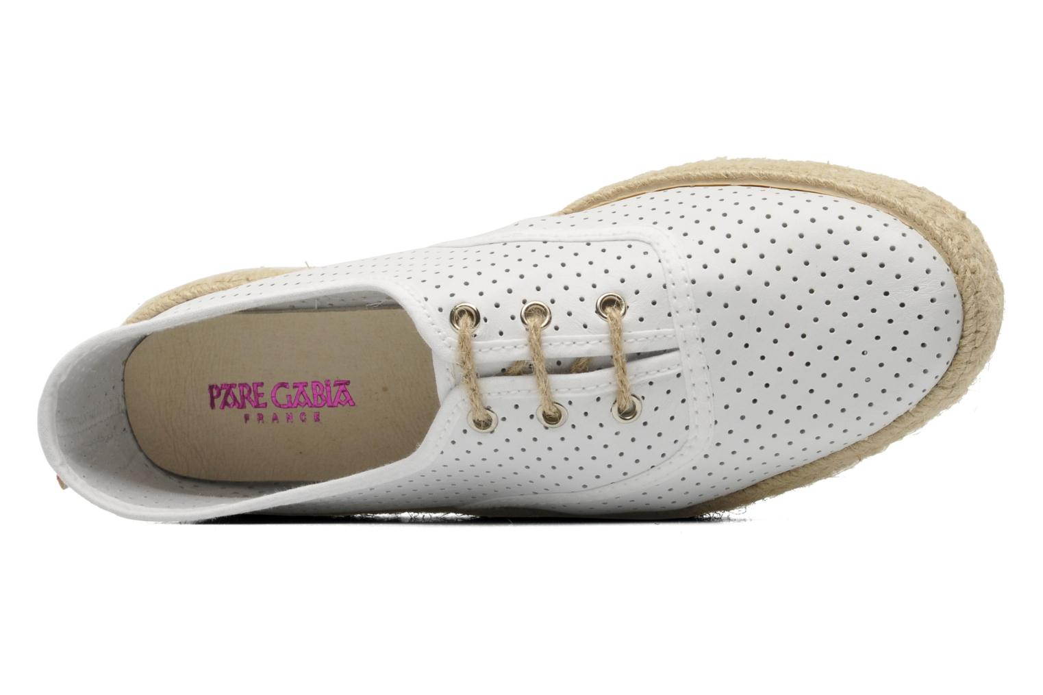 Lace-up shoes Pare Gabia Lotus cuir White view from the left