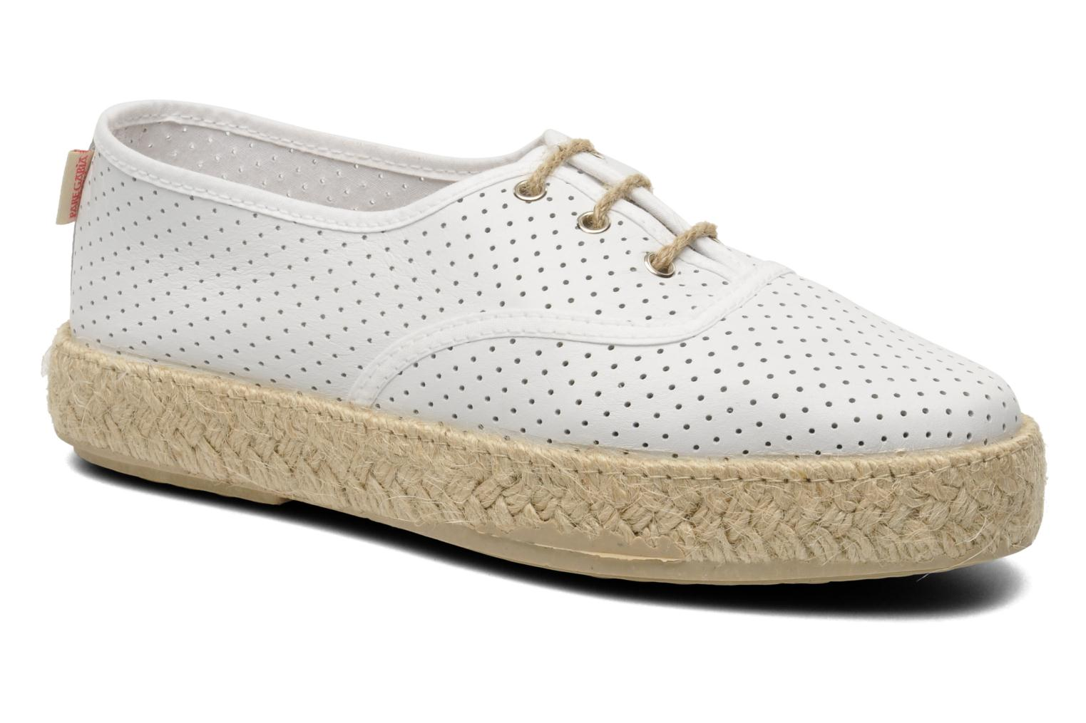 Lace-up shoes Pare Gabia Lotus cuir White detailed view/ Pair view
