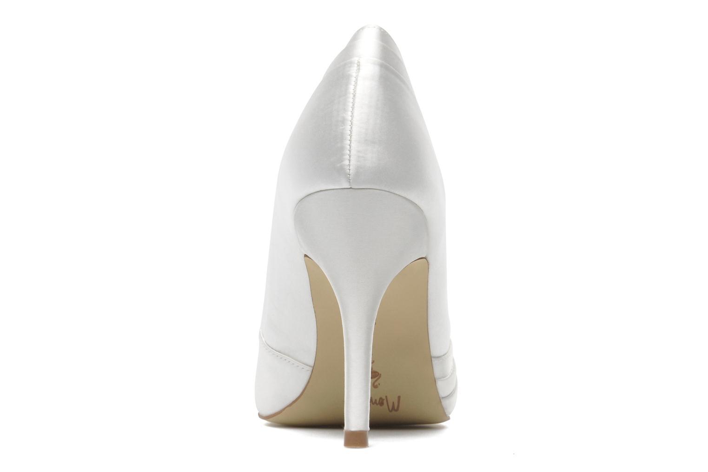 Zapatos de tacón Menbur Mare Blanco vista lateral derecha