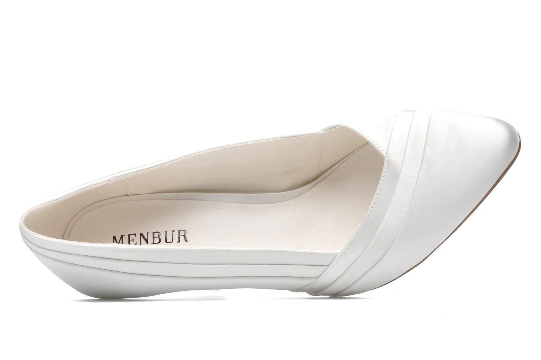 Pumps Menbur Mare weiß ansicht von links