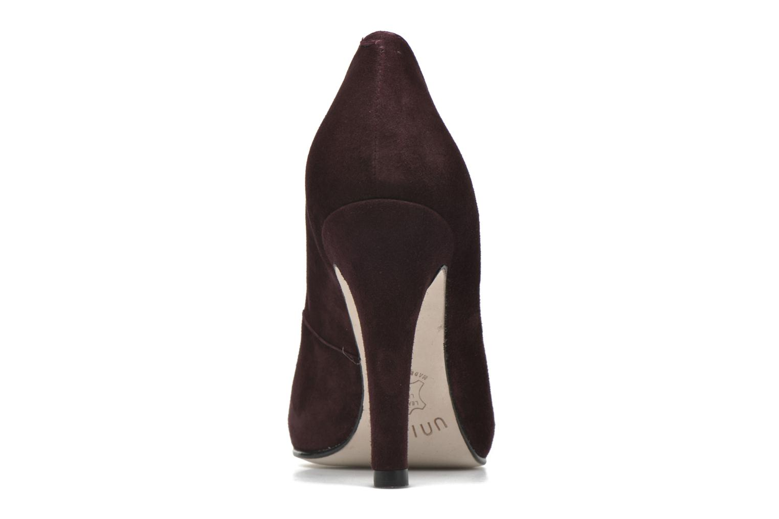 High heels Unisa Patric Burgundy view from the right