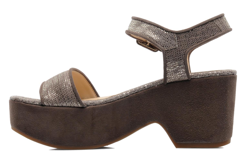 Sandales et nu-pieds Unisa Nefer Beige vue face