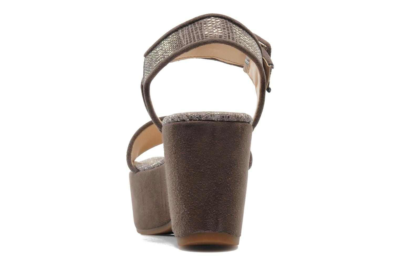 Sandals Unisa Nefer Beige view from the right
