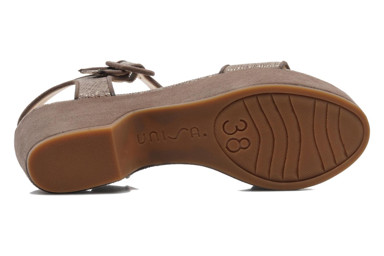 Sandali e scarpe aperte Unisa Nefer Beige immagine dall'alto