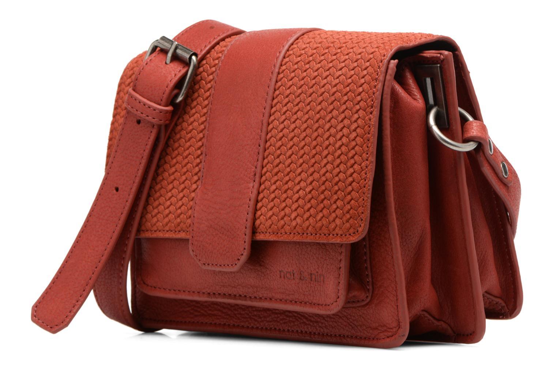Handtaschen Nat & Nin Esther rot schuhe getragen
