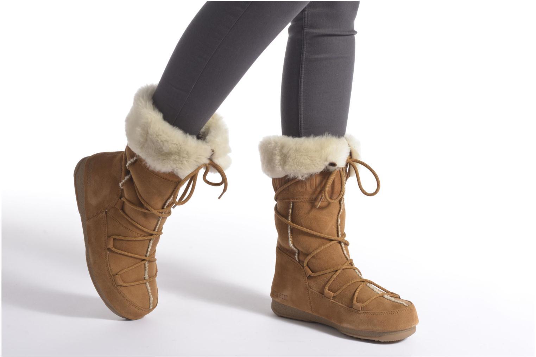 Stiefeletten & Boots Moon Boot Vagabond High beige ansicht von unten / tasche getragen
