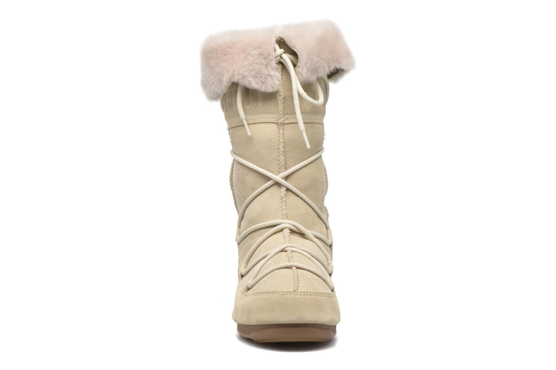 Stiefeletten & Boots Moon Boot Vagabond High beige schuhe getragen