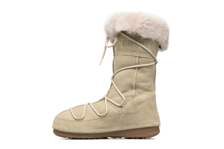 Stiefeletten & Boots Moon Boot Vagabond High beige ansicht von vorne