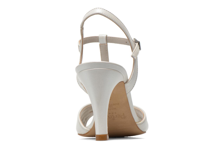 Sandales et nu-pieds Perlato Parvine Blanc vue droite