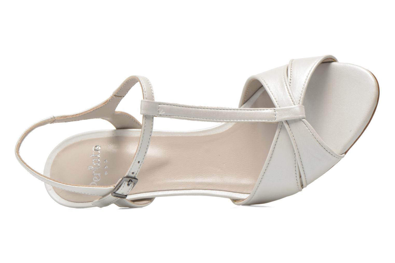 Sandales et nu-pieds Perlato Parvine Blanc vue gauche