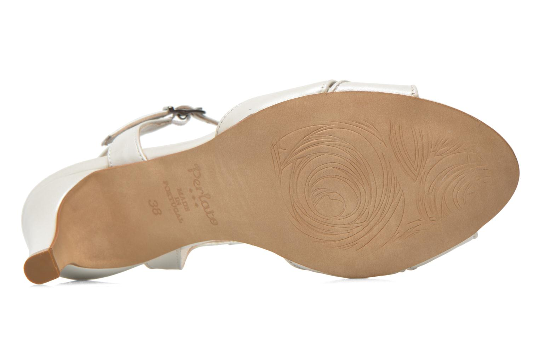 Sandales et nu-pieds Perlato Parvine Blanc vue haut